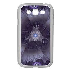 Amazing Fractal Triskelion Purple Passion Flower Samsung Galaxy Grand Duos I9082 Case (white) by jayaprime