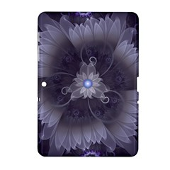 Amazing Fractal Triskelion Purple Passion Flower Samsung Galaxy Tab 2 (10 1 ) P5100 Hardshell Case  by jayaprime