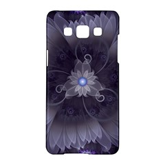 Amazing Fractal Triskelion Purple Passion Flower Samsung Galaxy A5 Hardshell Case  by jayaprime