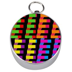 Colorful Rectangles And Squares                        Silver Compass by LalyLauraFLM