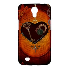 Steampunk, Heart With Gears, Dragonfly And Clocks Samsung Galaxy Mega 6 3  I9200 Hardshell Case by FantasyWorld7