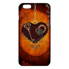 Steampunk, Heart With Gears, Dragonfly And Clocks Iphone 6 Plus/6s Plus Tpu Case by FantasyWorld7