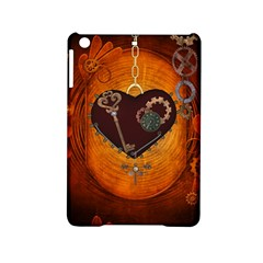 Steampunk, Heart With Gears, Dragonfly And Clocks Ipad Mini 2 Hardshell Cases by FantasyWorld7