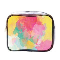 Pastel Watercolors Canvas                        Mini Toiletries Bag (one Side)