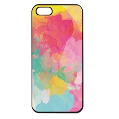 Pastel Watercolors Canvas                  Apple Iphone 5 Seamless Case (black) by LalyLauraFLM