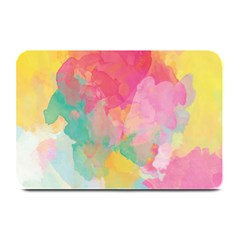 Pastel Watercolors Canvas                       Large Bar Mat by LalyLauraFLM