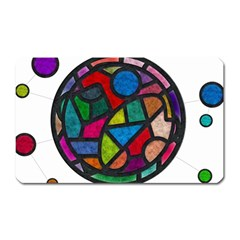 Stained Glass Color Texture Sacra Magnet (rectangular) by BangZart