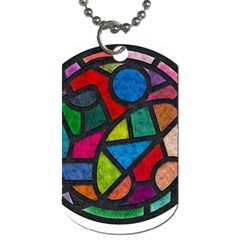 Stained Glass Color Texture Sacra Dog Tag (two Sides) by BangZart