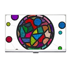 Stained Glass Color Texture Sacra Business Card Holders by BangZart