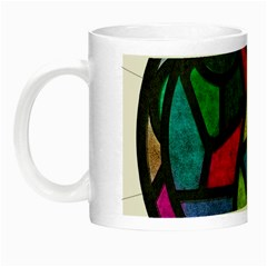 Stained Glass Color Texture Sacra Night Luminous Mugs by BangZart