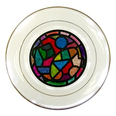 Stained Glass Color Texture Sacra Porcelain Plates by BangZart