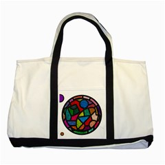 Stained Glass Color Texture Sacra Two Tone Tote Bag by BangZart