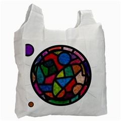 Stained Glass Color Texture Sacra Recycle Bag (two Side)