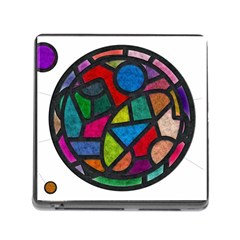 Stained Glass Color Texture Sacra Memory Card Reader (square) by BangZart