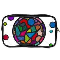 Stained Glass Color Texture Sacra Toiletries Bags