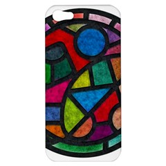Stained Glass Color Texture Sacra Apple Iphone 5 Hardshell Case by BangZart