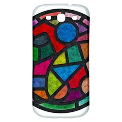Stained Glass Color Texture Sacra Samsung Galaxy S3 S Iii Classic Hardshell Back Case by BangZart