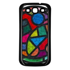Stained Glass Color Texture Sacra Samsung Galaxy S3 Back Case (black) by BangZart
