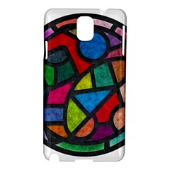 Stained Glass Color Texture Sacra Samsung Galaxy Note 3 N9005 Hardshell Case by BangZart