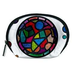 Stained Glass Color Texture Sacra Accessory Pouches (medium)