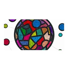 Stained Glass Color Texture Sacra Satin Wrap by BangZart