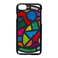 Stained Glass Color Texture Sacra Apple Iphone 7 Seamless Case (black) by BangZart