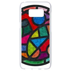 Stained Glass Color Texture Sacra Samsung Galaxy S8 White Seamless Case by BangZart