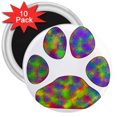 Paw 3  Magnets (10 Pack)  by BangZart