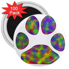 Paw 3  Magnets (100 Pack) by BangZart