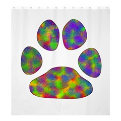 Paw Shower Curtain 66  X 72  (large)  by BangZart