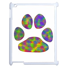 Paw Apple Ipad 2 Case (white) by BangZart
