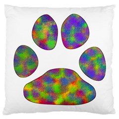 Paw Large Flano Cushion Case (two Sides) by BangZart