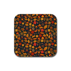 Pattern Background Ethnic Tribal Rubber Coaster (square)