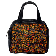 Pattern Background Ethnic Tribal Classic Handbags (one Side) by BangZart