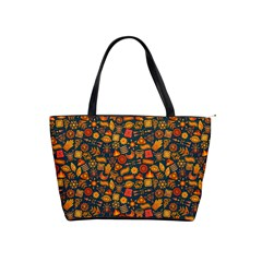 Pattern Background Ethnic Tribal Shoulder Handbags by BangZart