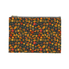 Pattern Background Ethnic Tribal Cosmetic Bag (large)