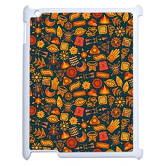 Pattern Background Ethnic Tribal Apple Ipad 2 Case (white) by BangZart