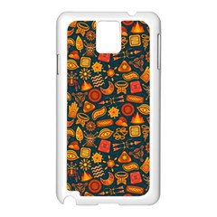 Pattern Background Ethnic Tribal Samsung Galaxy Note 3 N9005 Case (white)