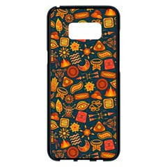Pattern Background Ethnic Tribal Samsung Galaxy S8 Plus Black Seamless Case by BangZart