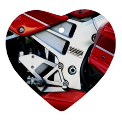 Footrests Motorcycle Page Ornament (heart) by BangZart