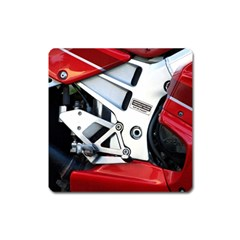 Footrests Motorcycle Page Square Magnet by BangZart