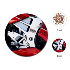 Footrests Motorcycle Page Playing Cards (round)  by BangZart