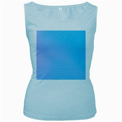 Background Graphics Lines Wave Women s Baby Blue Tank Top