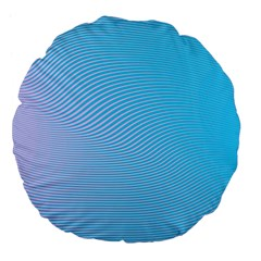 Background Graphics Lines Wave Large 18  Premium Flano Round Cushions by BangZart