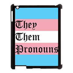 They/them Pronouns Apple Ipad 3/4 Case (black) by TransPrints