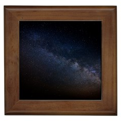 Cosmos Dark Hd Wallpaper Milky Way Framed Tiles by BangZart