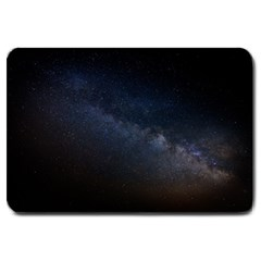 Cosmos Dark Hd Wallpaper Milky Way Large Doormat  by BangZart