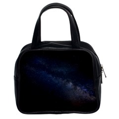 Cosmos Dark Hd Wallpaper Milky Way Classic Handbags (2 Sides) by BangZart