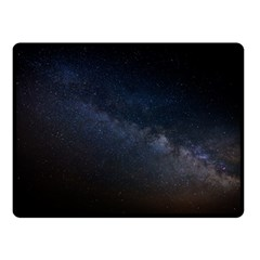Cosmos Dark Hd Wallpaper Milky Way Double Sided Fleece Blanket (small)