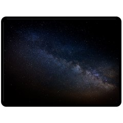 Cosmos Dark Hd Wallpaper Milky Way Double Sided Fleece Blanket (large)